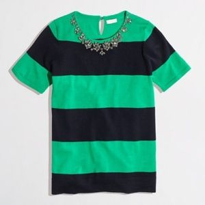 J. CREW Striped Necklace Sweater Rugby {V12}